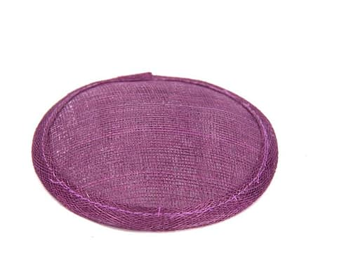 Craft & Millinery Supplies -- Trish Millinery- 12mm burgundy round sinamay fascinator base