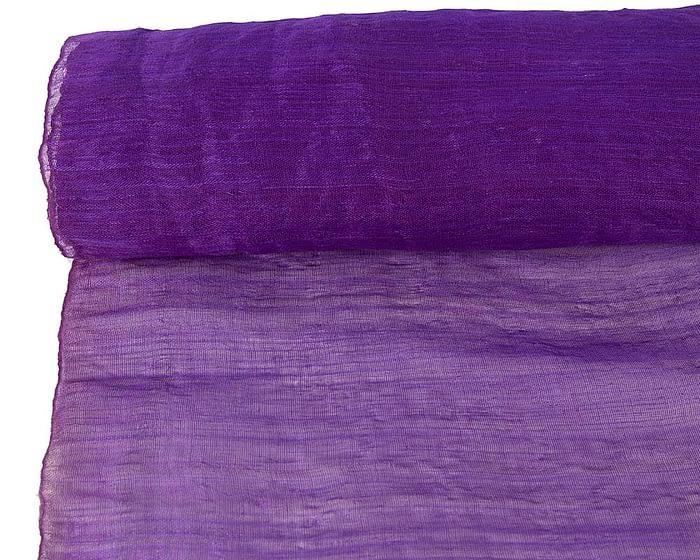 Craft & Millinery Supplies -- Trish Millinery- cotton abaca purple