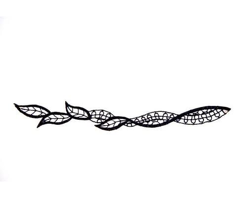 Craft & Millinery Supplies -- Trish Millinery- black lace trim fascinators millinery