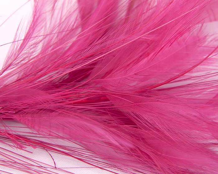 Craft & Millinery Supplies -- Trish Millinery- fuchsia coque feather tree fascinators making closeup
