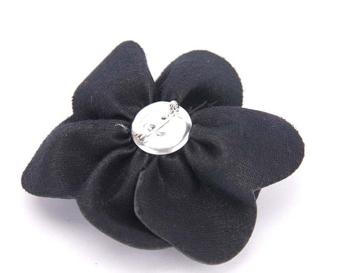 Craft & Millinery Supplies -- Trish Millinery- black leather flower back