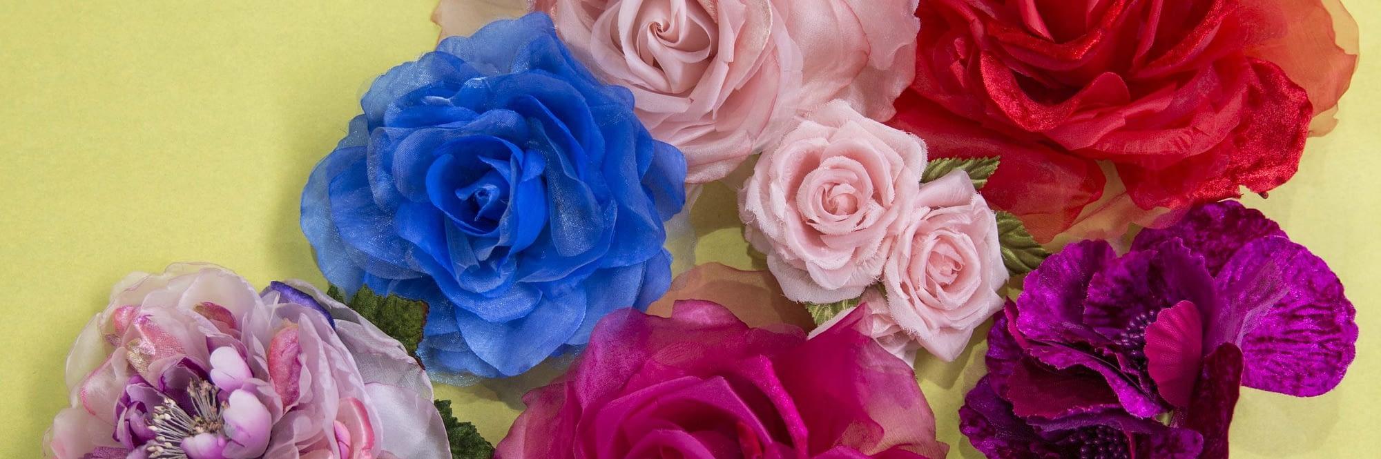 Craft & Millinery Supplies -- silk flowers