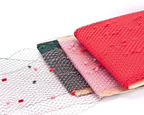 Craft & Millinery Supplies -- Trish Millinery- flocked veiling netting