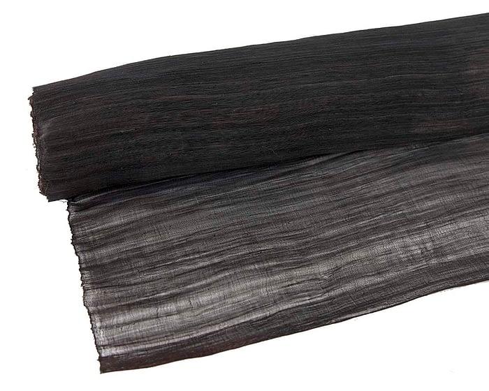 Craft & Millinery Supplies -- Trish Millinery- silk abaca black