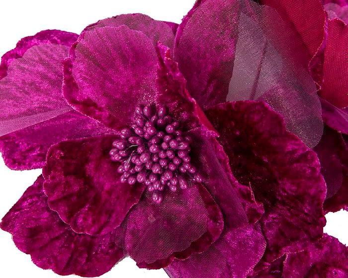 Craft & Millinery Supplies -- Trish Millinery- FL44 purple closeup