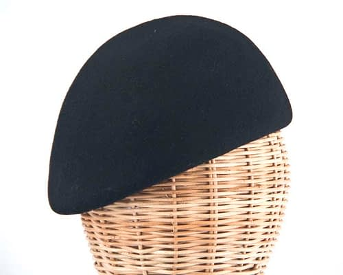 Craft & Millinery Supplies -- Trish Millinery- black felt beret hat shape