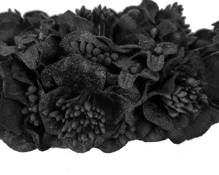 Craft & Millinery Supplies -- Trish Millinery- FL42 black closeup