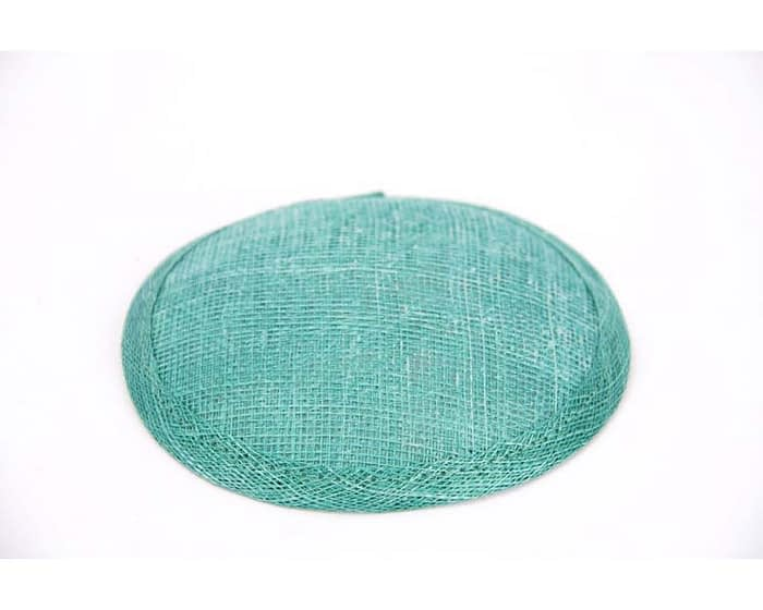 Craft & Millinery Supplies -- Trish Millinery- 12mm aqua round sinamay fascinator base