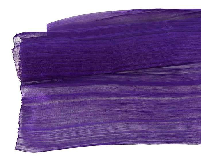Craft & Millinery Supplies -- Trish Millinery- silk abaca purple