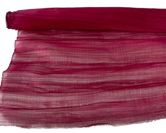 Craft & Millinery Supplies -- Trish Millinery- silk abaca maroon