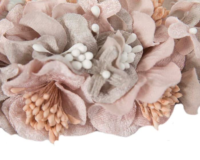 Craft & Millinery Supplies -- Trish Millinery- FL42 silver pink closeup