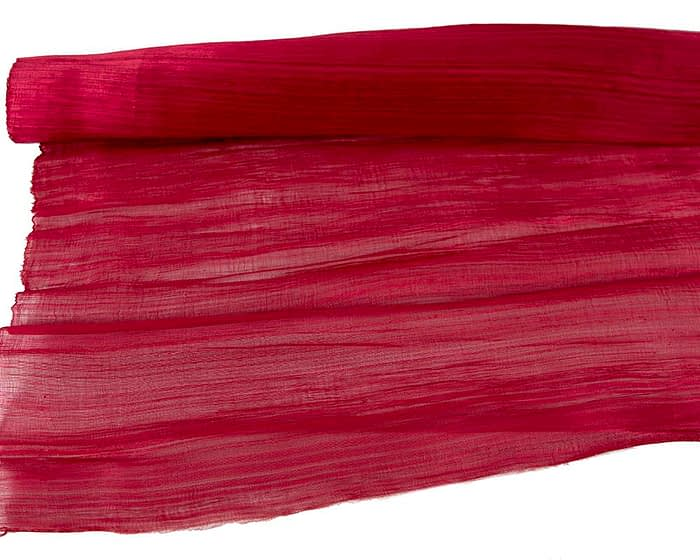 Craft & Millinery Supplies -- Trish Millinery- silk abaca red