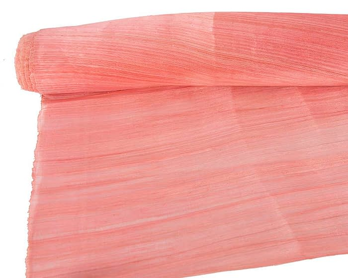 Craft & Millinery Supplies -- Trish Millinery- silk abaca coral