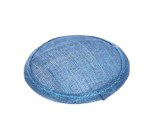 Craft & Millinery Supplies -- Trish Millinery- 12mm light blue round sinamay fascinator base