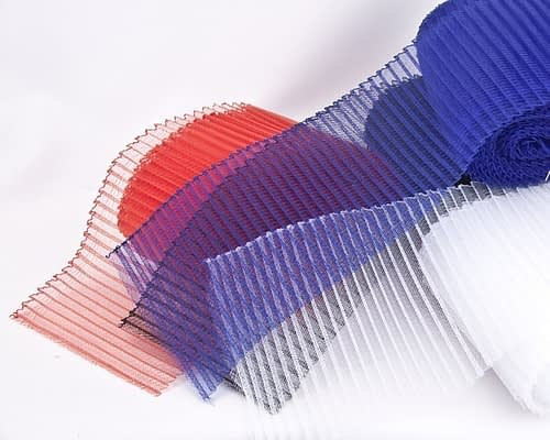 Craft & Millinery Supplies -- Trish Millinery- crinoline 6inches pleated