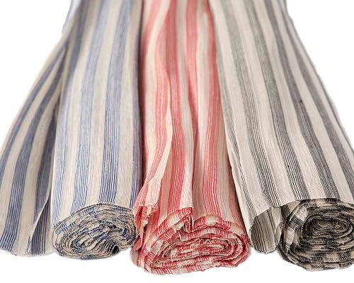 Craft & Millinery Supplies -- Trish Millinery- silk abaca stripe