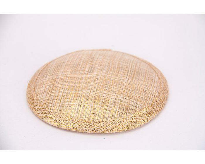 Craft & Millinery Supplies -- Trish Millinery- 12mm gold round sinamay fascinator base