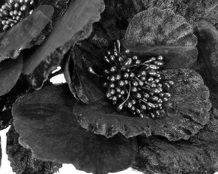 Craft & Millinery Supplies -- Trish Millinery- FL44 black closeup