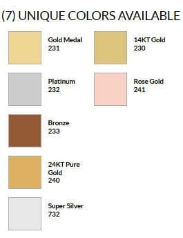 Craft & Millinery Supplies -- Trish Millinery- design master premium metals professional spray colorchart