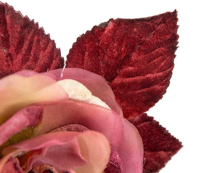 Craft & Millinery Supplies -- Trish Millinery- FL63 burgundy closeup