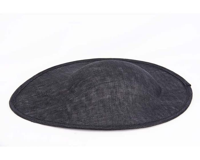 Craft & Millinery Supplies -- Trish Millinery- black large saucepan oval sinamay blocked fascinator base