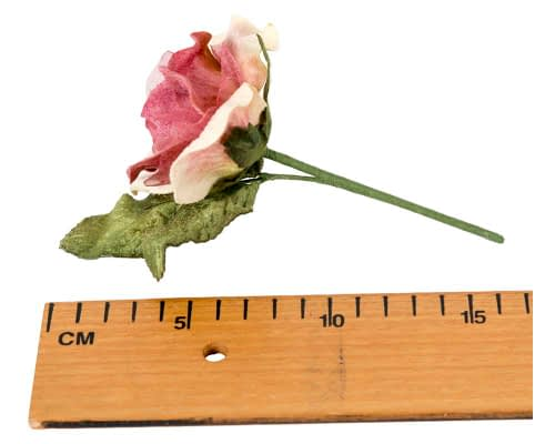 Craft & Millinery Supplies -- Trish Millinery- FL61 rose