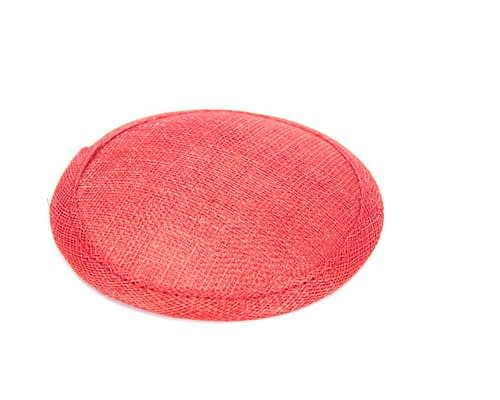 Craft & Millinery Supplies -- Trish Millinery- 12mm red round sinamay fascinator base