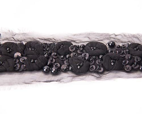 Craft & Millinery Supplies -- Trish Millinery- black trim beaded millinery diy crafts 1