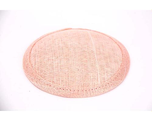 Craft & Millinery Supplies -- Trish Millinery- 12mm pink round sinamay fascinator base