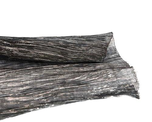 Craft & Millinery Supplies -- Trish Millinery- glitter abaca black silver