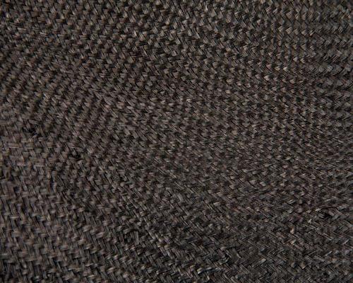 Craft & Millinery Supplies -- Trish Millinery- hood sisal black closeup