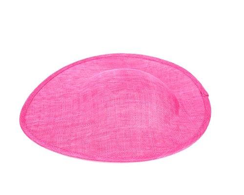 Craft & Millinery Supplies -- Trish Millinery- fuchsia large saucepan oval sinamay blocked fascinator base