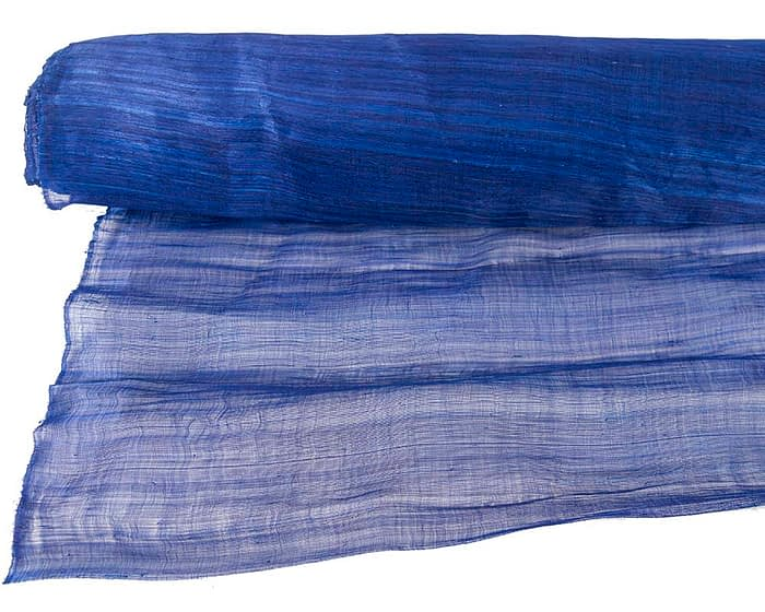 Craft & Millinery Supplies -- Trish Millinery- silk abaca royal blue