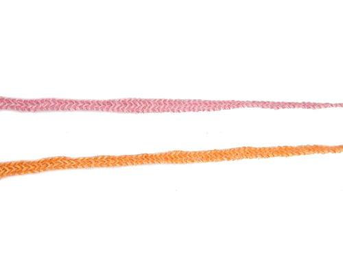 Craft & Millinery Supplies -- Trish Millinery- hemp braid orange closeup