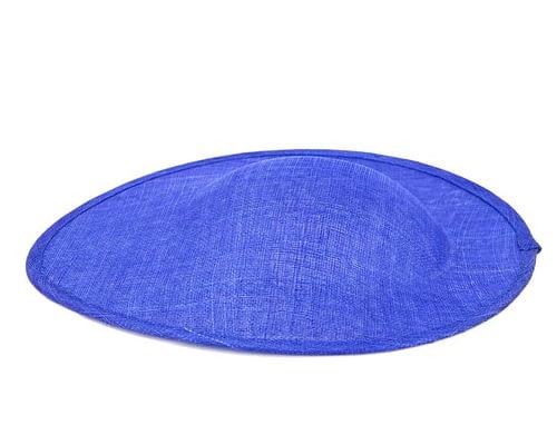 Craft & Millinery Supplies -- Trish Millinery- royal blue large saucer oval sinamay blocked fascinator base