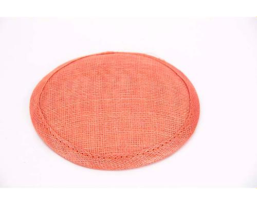 Craft & Millinery Supplies -- Trish Millinery- 12mm orange round sinamay fascinator base