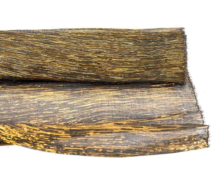 Craft & Millinery Supplies -- Trish Millinery- glitter abaca black gold