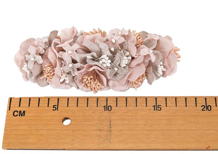 Craft & Millinery Supplies -- Trish Millinery- FL42 silver pink