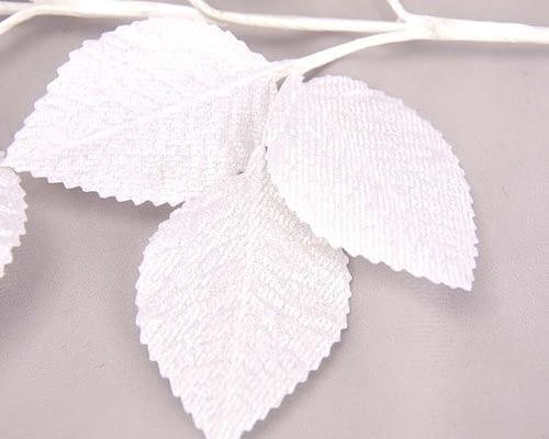 Craft & Millinery Supplies -- Trish Millinery- white velvet leaves closeup