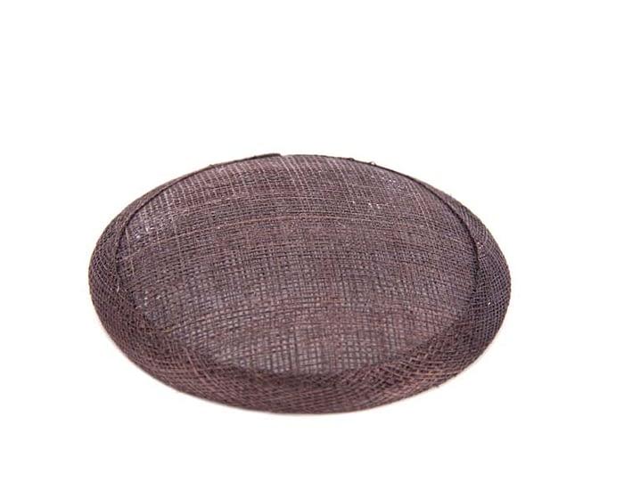 Craft & Millinery Supplies -- Trish Millinery- 12mm chocolate round sinamay fascinator base