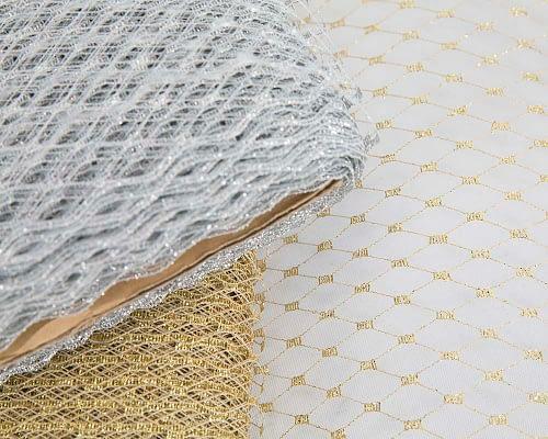 Craft & Millinery Supplies -- Trish Millinery- metallic veil