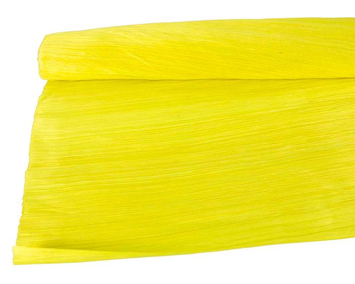Craft & Millinery Supplies -- Trish Millinery- silk abaca bright yellow