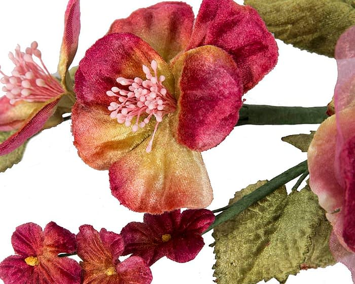 Craft & Millinery Supplies -- Trish Millinery- FL55 burgundy closeup