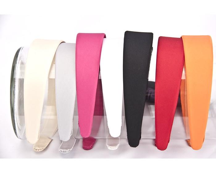 Craft & Millinery Supplies -- Trish Millinery- 35mm satin covered headband fascinators millinery