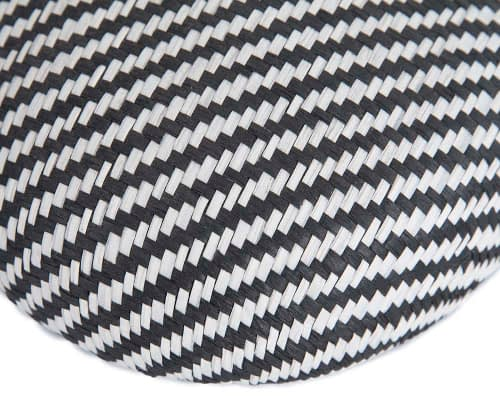 Craft & Millinery Supplies -- Trish Millinery- SH6 white black closeup