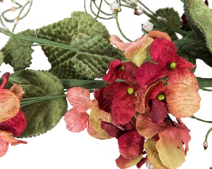 Craft & Millinery Supplies -- Trish Millinery- FL56 burgundy closeup