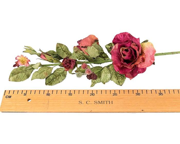 Craft & Millinery Supplies -- Trish Millinery- FL54 burgundy