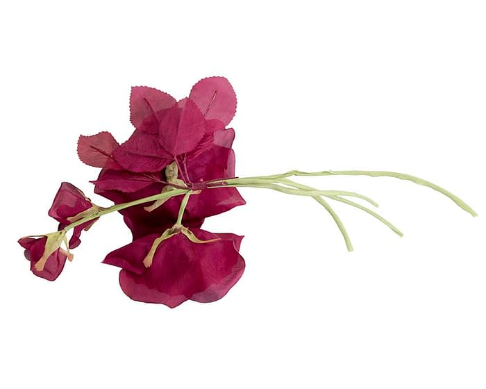 Craft & Millinery Supplies -- Trish Millinery- FL46 burgundy back