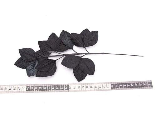 Craft & Millinery Supplies -- Trish Millinery- black velvet leaves