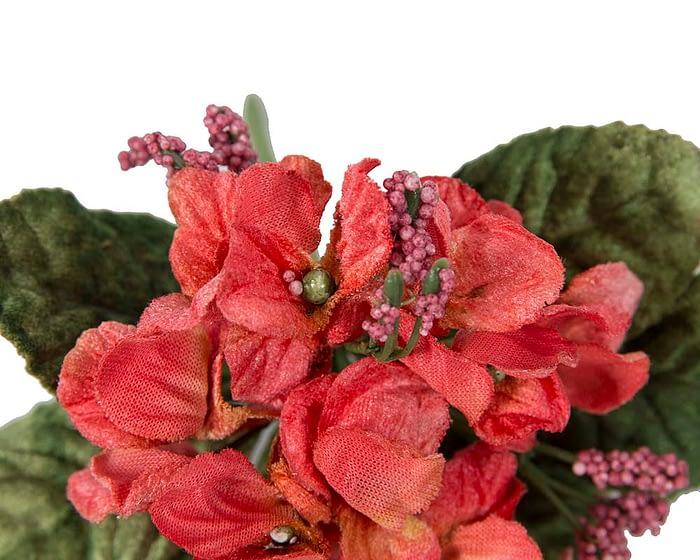 Craft & Millinery Supplies -- Trish Millinery- FL59 coral closeup